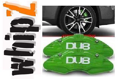 Capa Pinça de Freio Shutt Tuning verde Universal ABS Roda Aro 14 ou Superior Par Similar Brembo