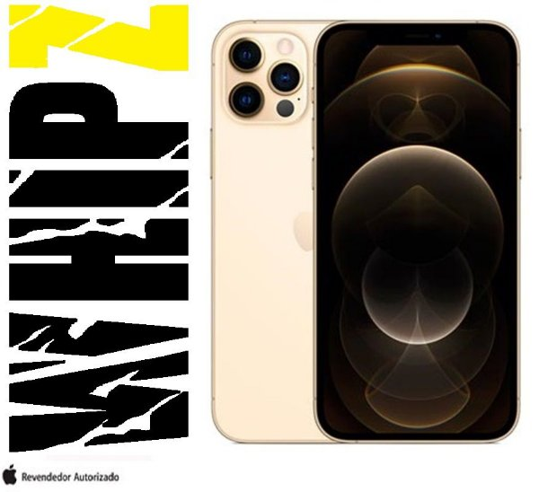 "iPhone 12 Pro Max 128GB Dourado iOS 5G Wi-Fi Tela 6.7"" Câmera - 12MP + 12MP + 12MP + Sensor LiDA"
