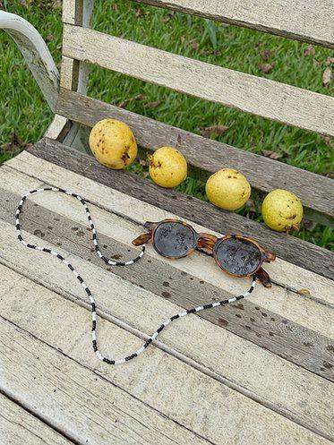 Cordinha para Óculos - Gita (Preto e Branco)