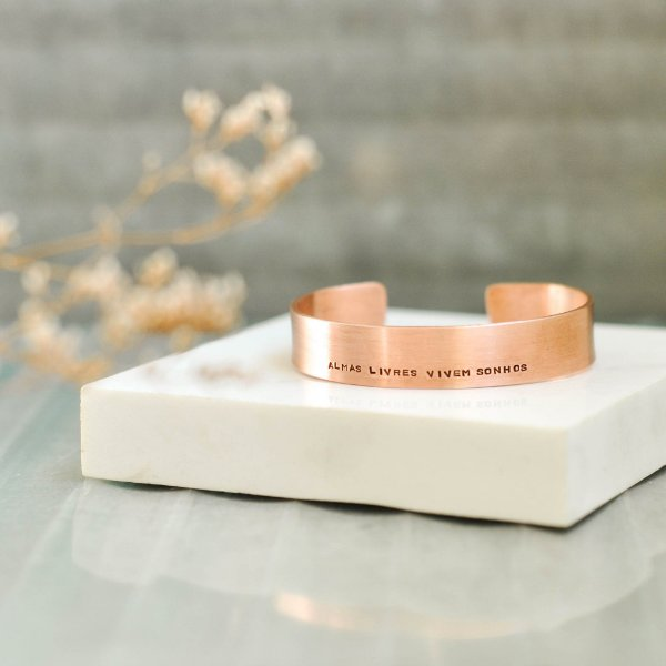 Bracelete M Cobre - Almas Livres Vivem Sonhos