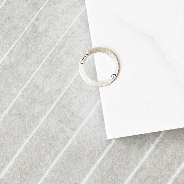Anel de Saturno Love em Alumínio
