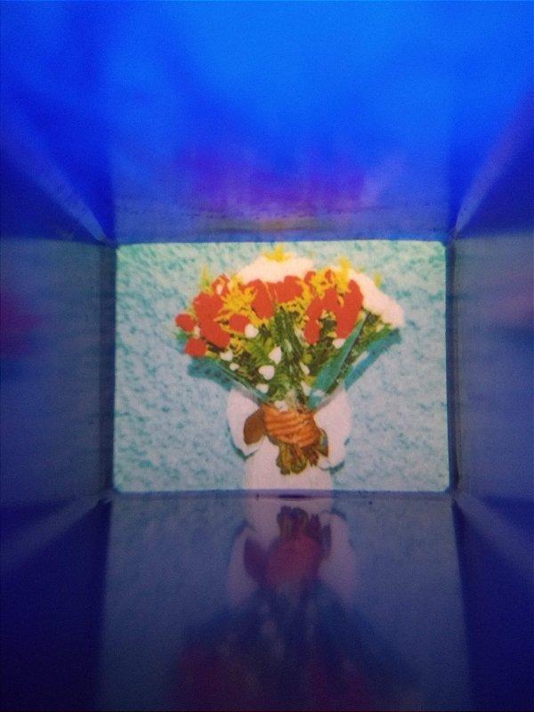 Monóculos azul Buquê de flores