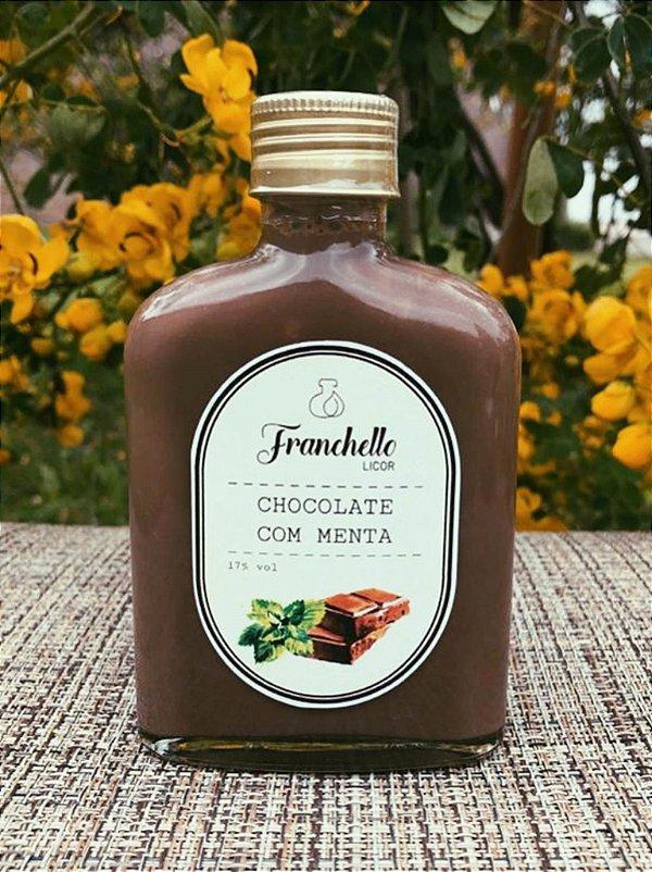 Licor de Chocolate com Menta