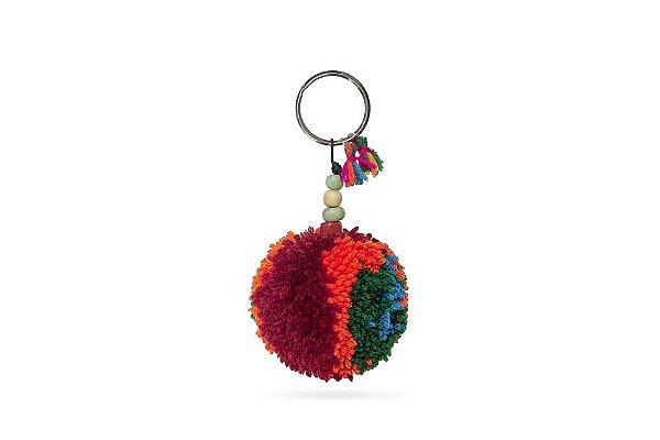 Chaveiro Lakshmi Pompom Multicolorido