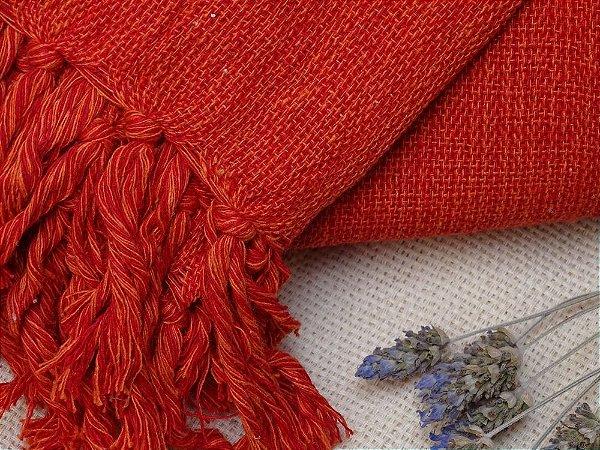 Manta Vermelha e Laranja tamanho P