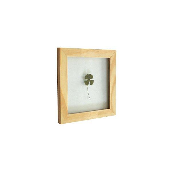 Quadro 15x15 cm Trevo de 4 folhas
