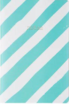 Caderneta Meu Pequeno Cicero Pastel 14x21 - Azul Listrado - Sem Pauta