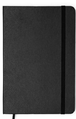 Caderneta Clássica 14x21 - Preta Com Pauta