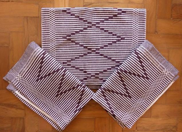 Kit passadeira em algodão artesão bordô