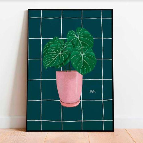 Vaso Quadriculado Marinho | Print