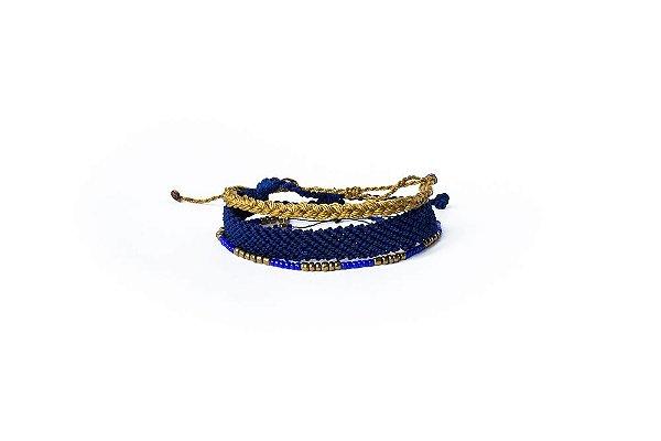 Kit Pulseiras Mary Azul
