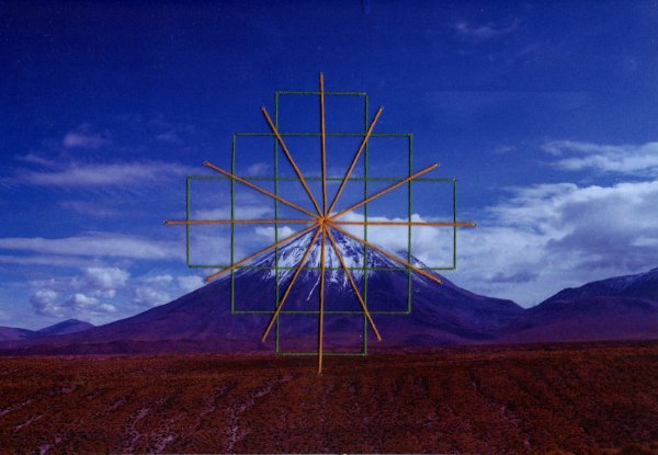 Foto bordada Montanha Chakana