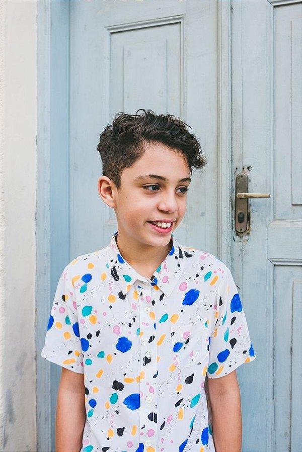 Camisa Agênero Infantil Aquarela