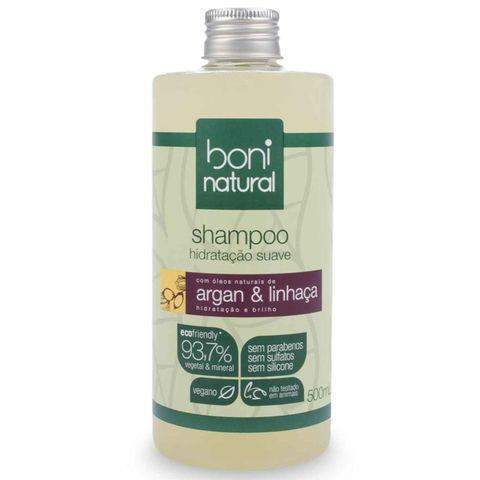 Shampoo Boni Natural Argan e Linhaça 500ml