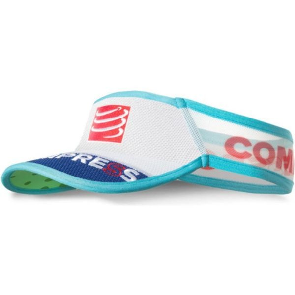 VISEIRA COMPRESSPORT ULTRALIGHT BRANCA/AZUL