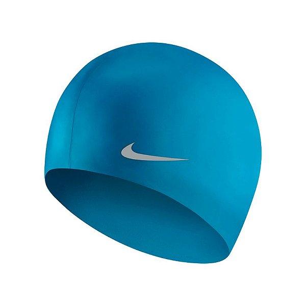 TOUCA NATAÇÃO NIKE SOLID JR CAP - CURRENT BLUE