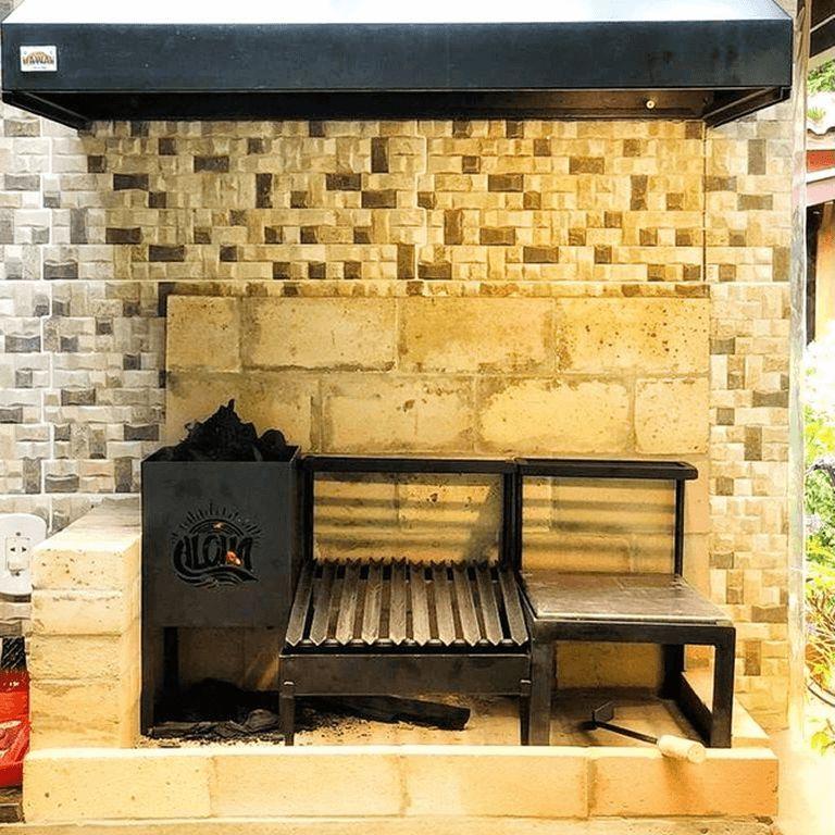 Kit Grelhas Personalizadas 32x39 cm + 32x15 cm para Alvenaria | JV Parrillas