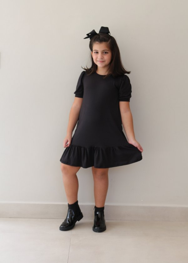 Vestido Infantil Mariá Preto