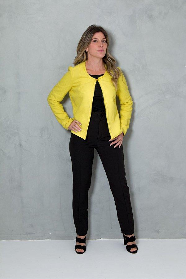 Casaco Tweed Amarelo