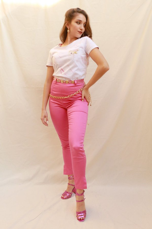 Calça Pantera Cor de Rosa