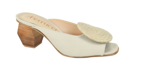 Mule Salto top de corda Off White