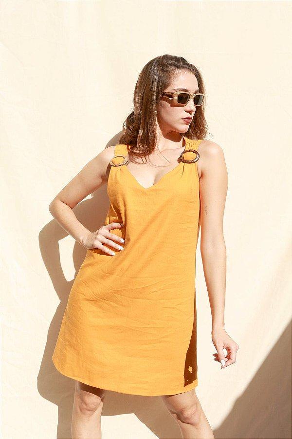 Vestido  Mellow Yellow em Linho