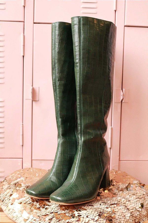 Bota Croco Verde