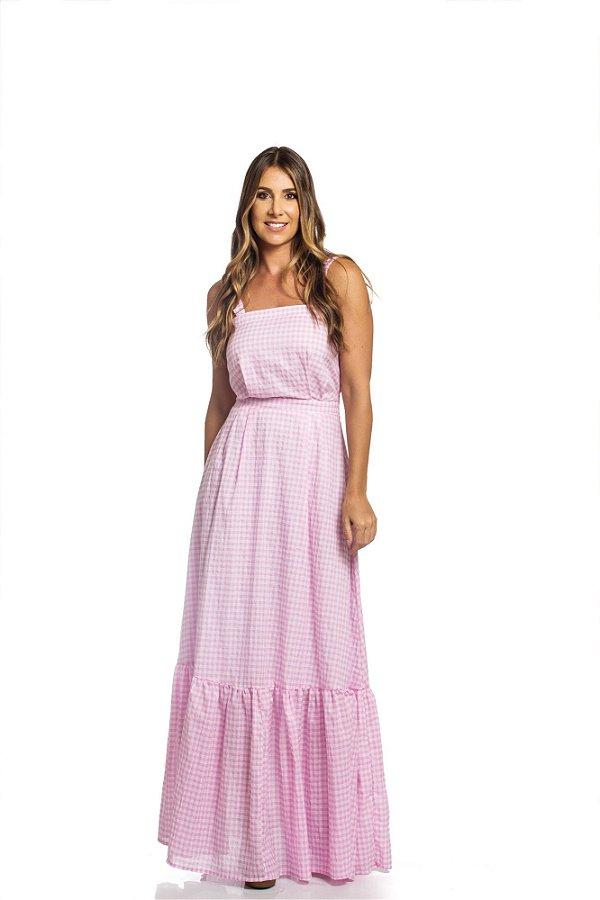 Vestido Rosinha Xadrez