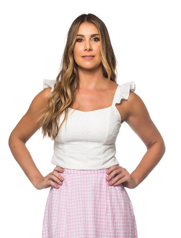 Top Cropped Laise Branco