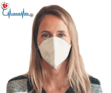 Máscara Respirador Descartável Dobrável sem Válvula N95 / PFF2 Branca -  Protecfase CA. 43.740
