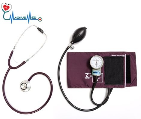 Esfigmo / Aparelho Pressão BORDO Adulto Nylon Fecho + Estetoscópio Adulto BORDO Duosson – P.A. MED