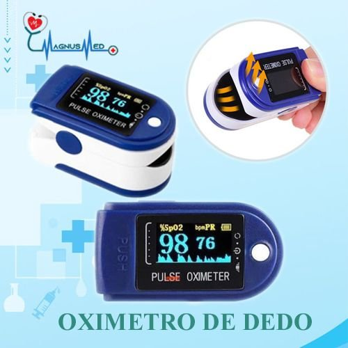 Oximetro de Pulso Dedo Portátil c/ Curva Plestimográfica Registro Anvisa