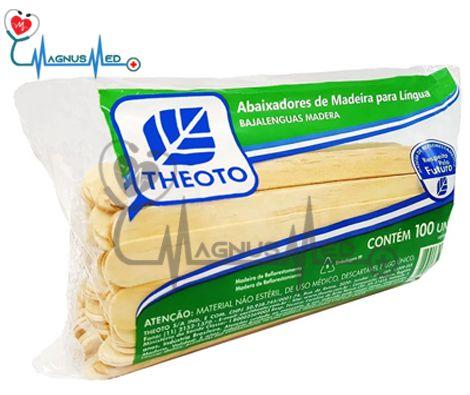 ABAIXADOR DE LÍNGUA DE MADEIRA C/ 100 THEOTO