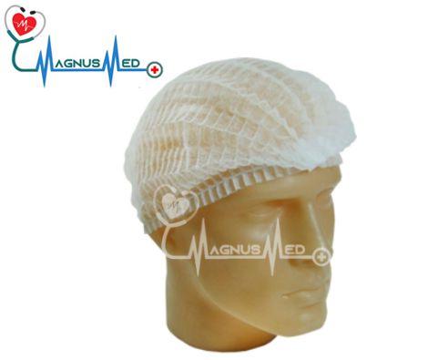 Touca Descartável branca Tnt 20g c/100 unidades - FARMATEX