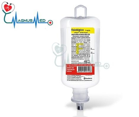 Soro fisiológico 0,9% sistema fechado 250 ml frasco – Eurofarma