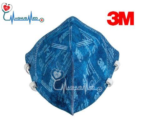 Máscara Respirador Descartável Dobrável sem Válvula PFF2 9820 Azul - 3M