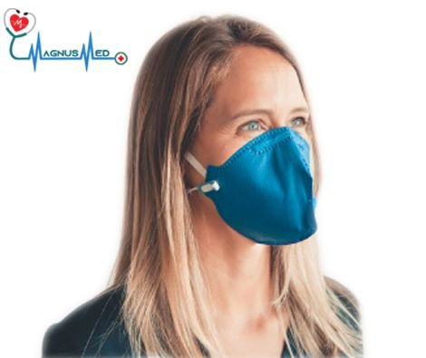 Máscara Respirador Descartável Dobrável sem Válvula N95 / PFF2 Azul - Protecfase CA. 43.740