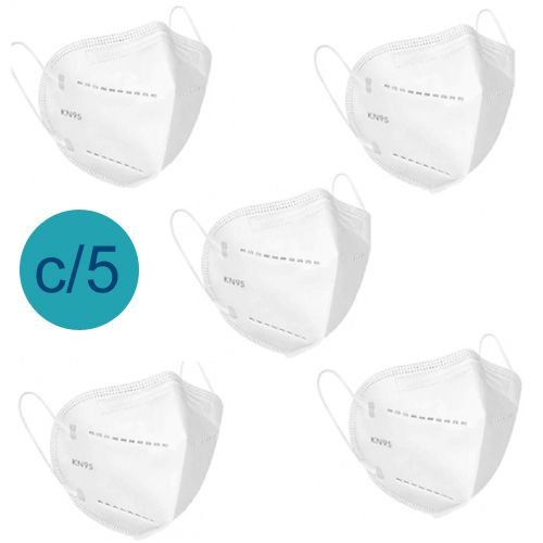 Kit 5 Un Máscara KN95 Respirador Proteção Reutilizável Profissional Respiratoria PFF2 - Fine Feel