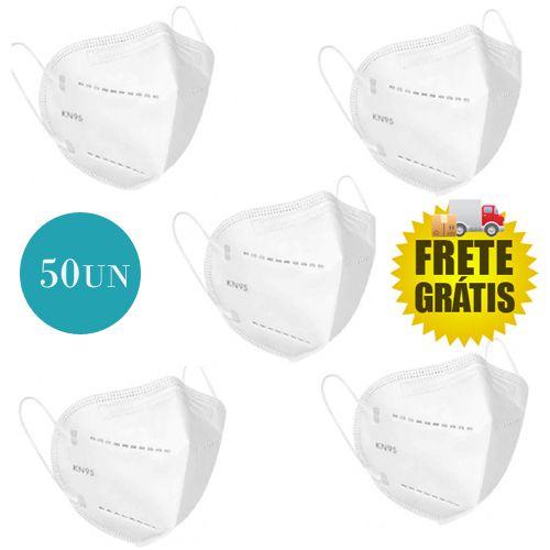 Kit 50 Un Máscara KN95 Respirador Proteção Reutilizável Profissional Respiratoria PFF2 - Fine Feel