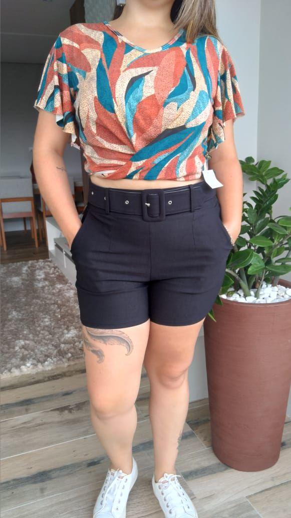 Shorts Cinto Quadrado