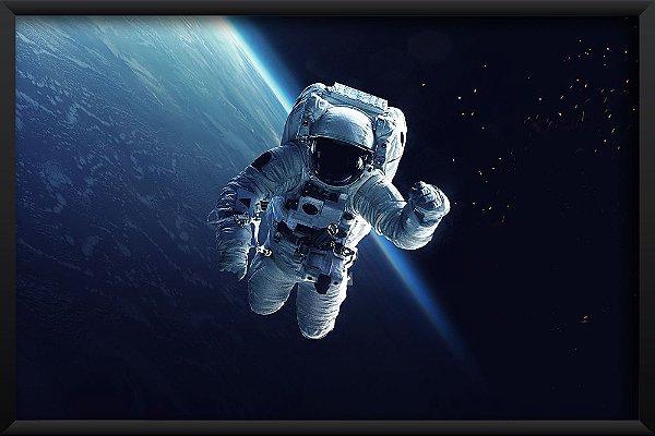 Quadro Astronauta na Galáxia