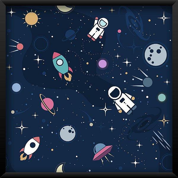 Quadro Foguete no Espaço