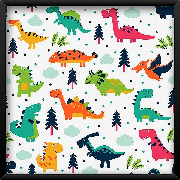 Quadro Dinossauros e Pinheiros
