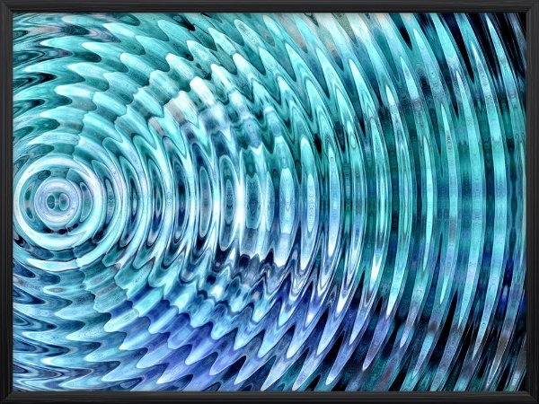 Quadro Circulo Listrado Azul