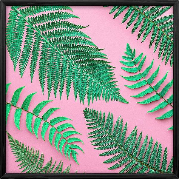 Quadro Folha Samambaia Tropical