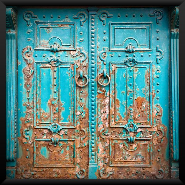 Quadro Porta Azul