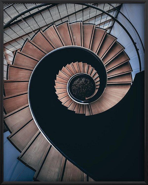 Quadro Escada Espiral Marrom