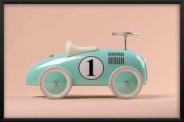Quadro Carro 3D Azul