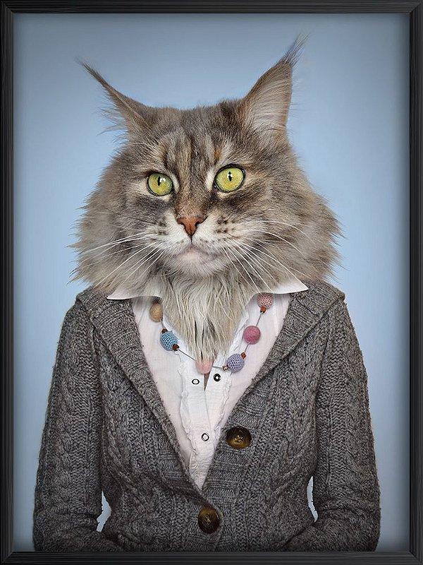 Quadro Gato Senhora
