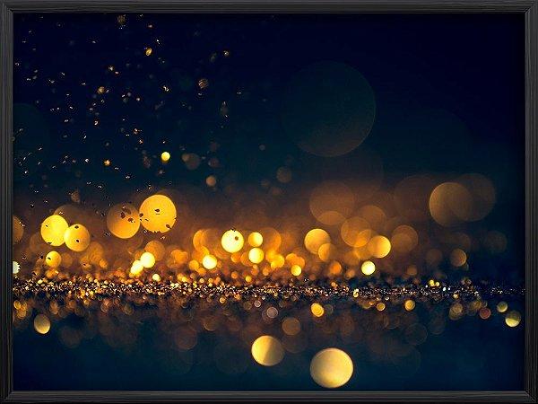 Quadro Glitter Dourado